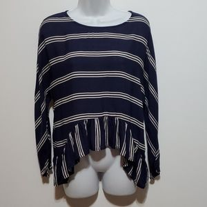 Zara Woman horizontal stripped Blouse